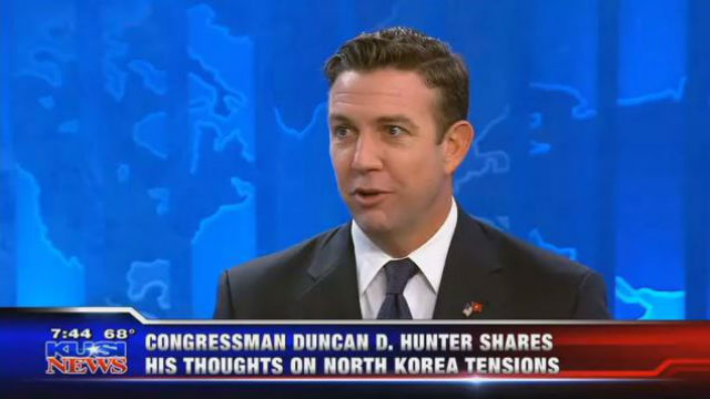 Rep Hunter Hit North Korea Now Because It S Likely