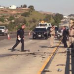 Police at scene of fatal crash