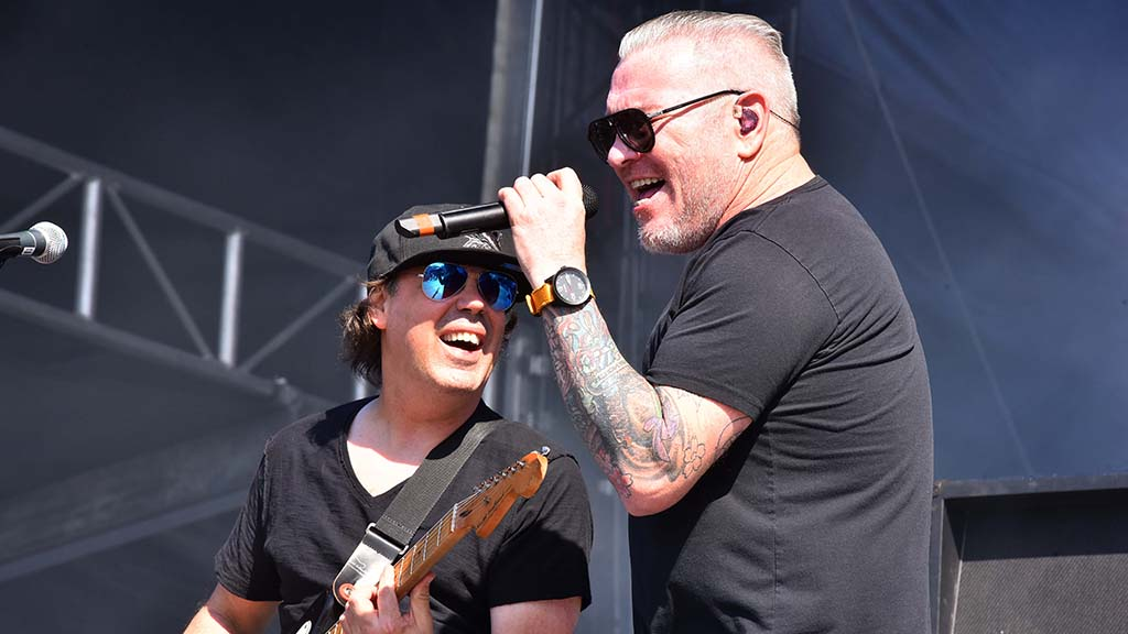Smash Mouth lead vocalist Steve Harwell performs at KAABOO Del Mar.