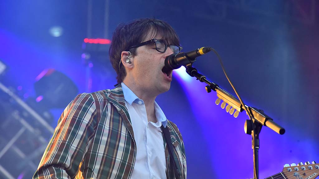 Guitarist Rivers Cuomo performs with Weezer at KAABOO Del Mar.