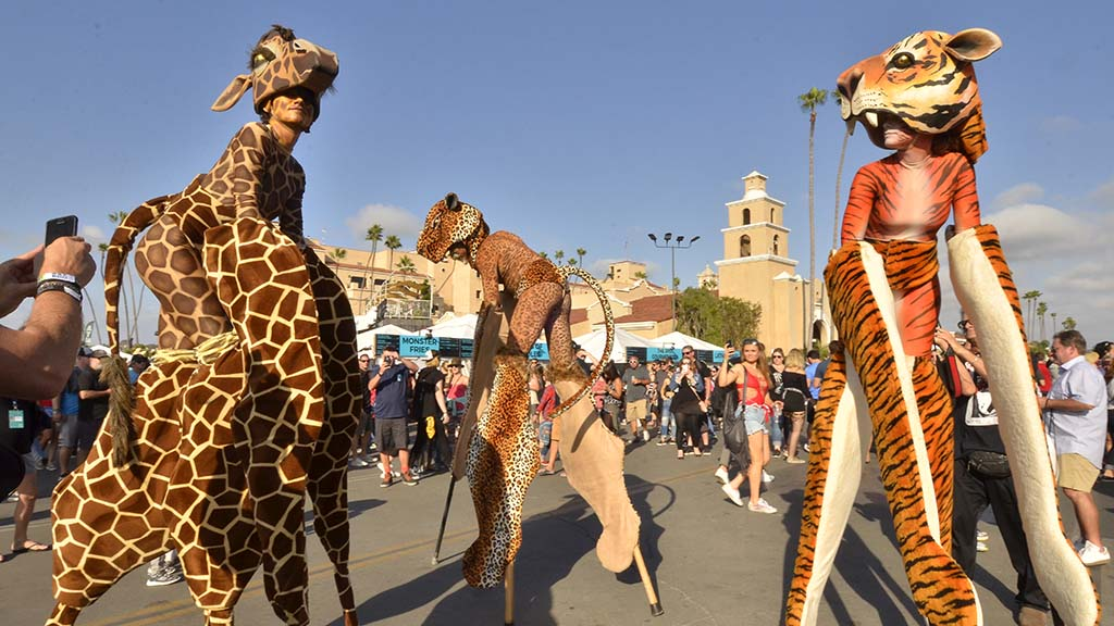 Performers in animal costumes delighted the crowds at KAABOO.