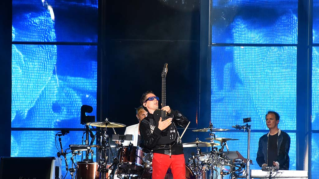 Matt Bellamy, lead singer in Muse, performs at KAABOO Del Mar.