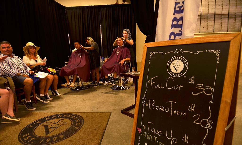 Visitors took advantage of a barber shop at KAABOO Del Mar.