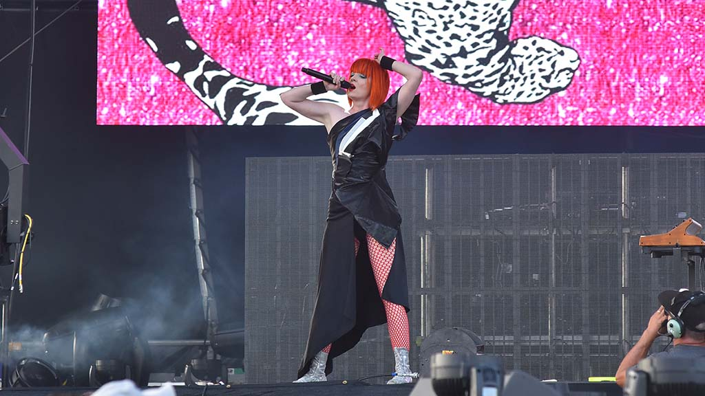 Shirley Manson of the band Garbage performs at KAABOO Del Mar.