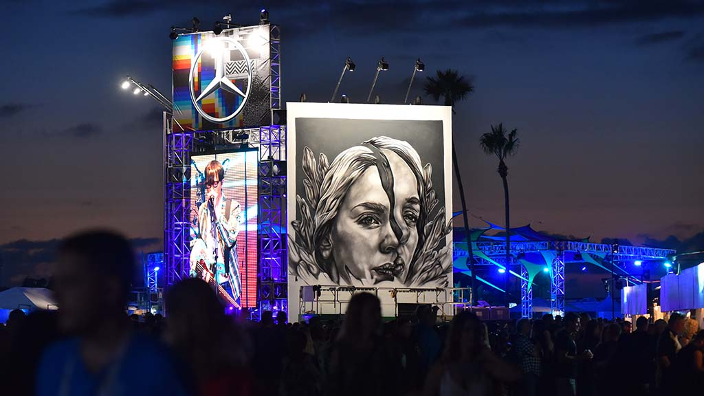 Art at KAABOO is a prominent part of the three-day experience.