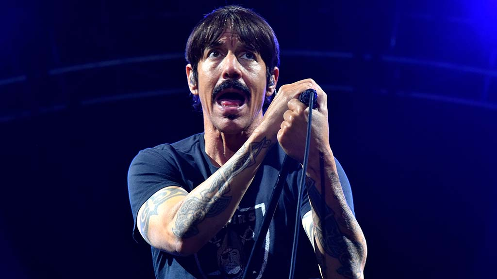 Anthony Kiedis, lead singer for Red Hot Chili Peppers, performs at KAABOO.