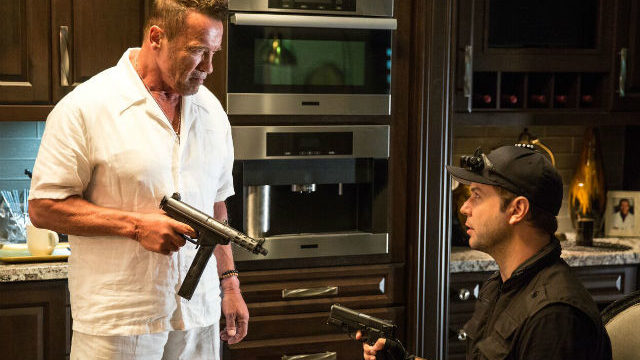 "Arnold Schwarzenegger in ""Killing Gunther."""
