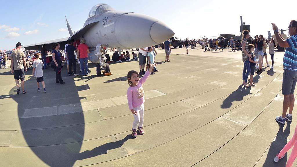 Visitors check out the displays at the 2017 Miramar Air Show.