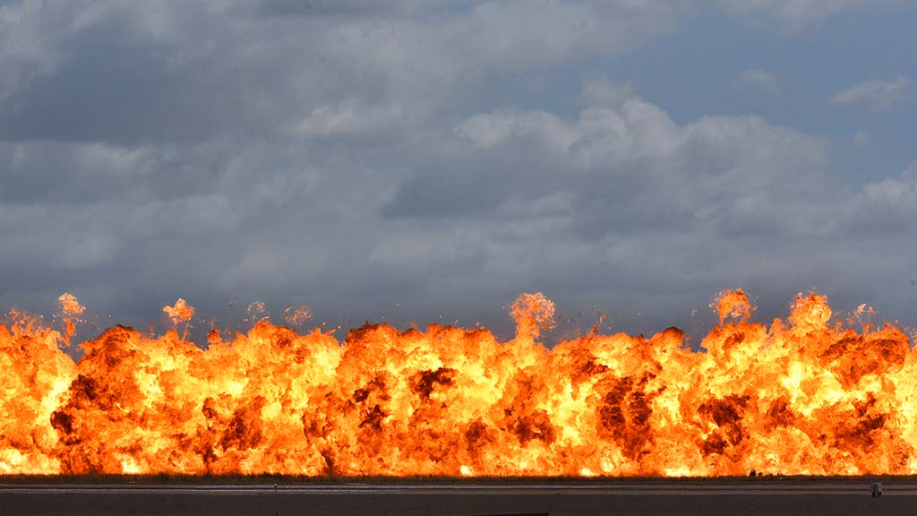 Explosion were detonated at the Miramar Air Show.