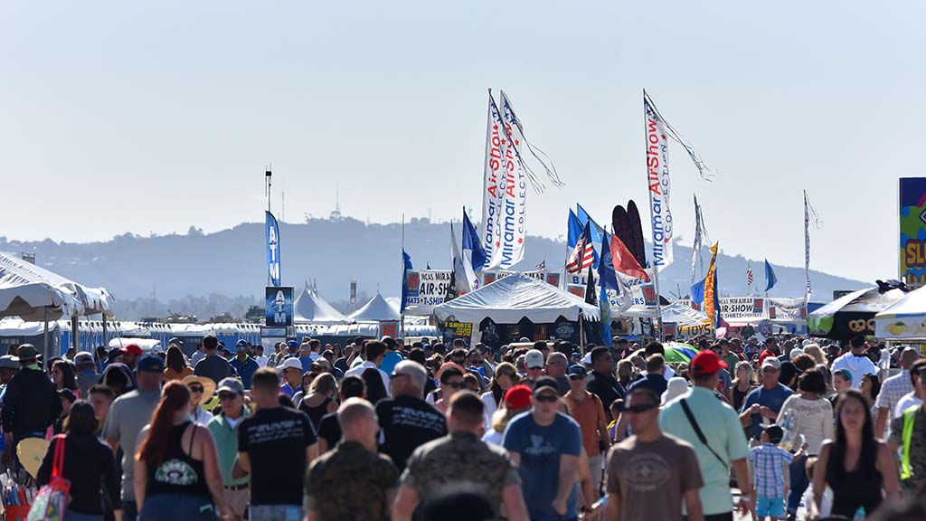 Tens of thousands of people attended the Saturday performance of the Miramar Air Show.