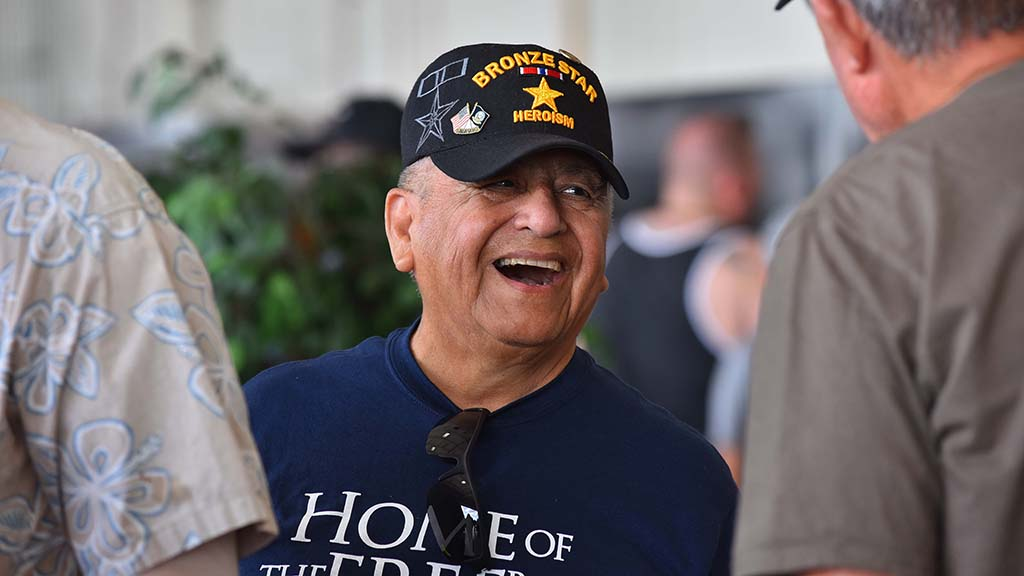 Vietnam War veterans enjoyed meeting other veterans at the pin ceremony