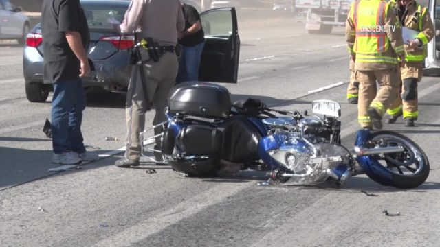 Motorcycle wreckage