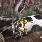 Wreckage of SUV