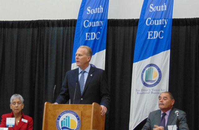 Mayor Kevin Faulconer speaking