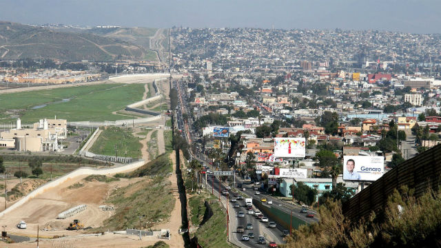 Border between San Diego and Tijuana