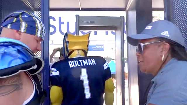 Boltman Blasts Chargers Stadium Security Shares Video