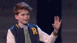 "Merrick Hanna freezes at end of his semifinal dance on ""America's Got Talent."""