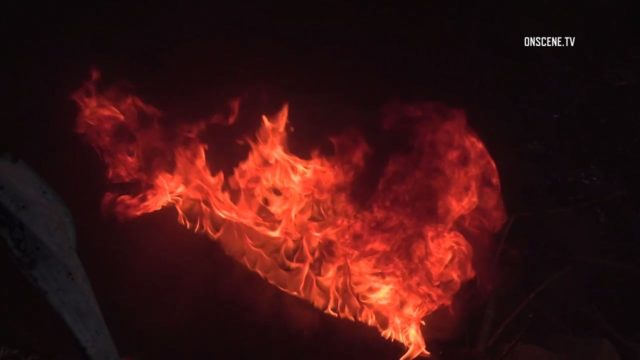 Lakeside brush fire