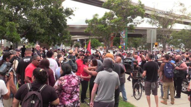 Chicano Park demonstrators