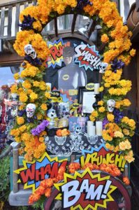 An altar was set up to honor the late actor Adam West at Old Town.
