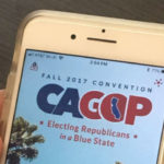 Cellphone with California GOP logo