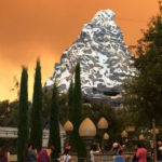 Glow from fire visible from Disneyland