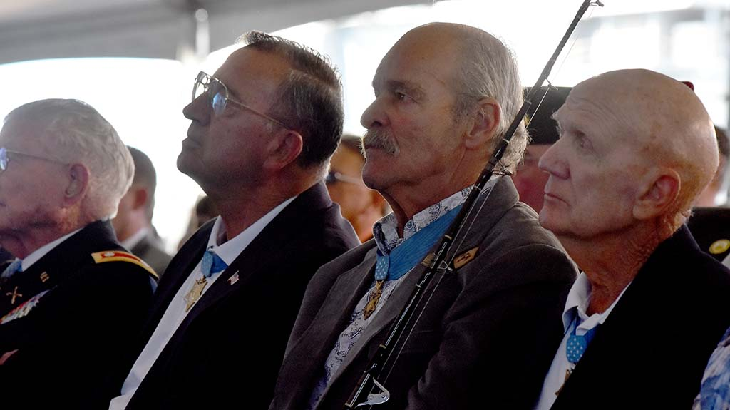 Four Medal of Honor recipients attended the christening