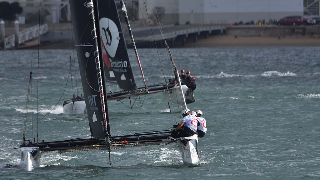 Sailors faced better sailing conditions on Friday with higher winds.