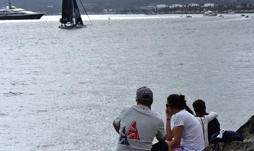 Sailing aficionados get ready for the next race to start