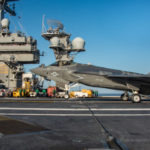 F-35C Lightning II lands aboard the USS Carl Vinson