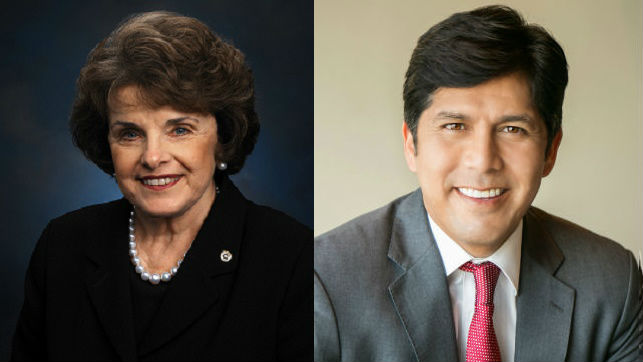 Dianne Feinstein and Kevin de Leon