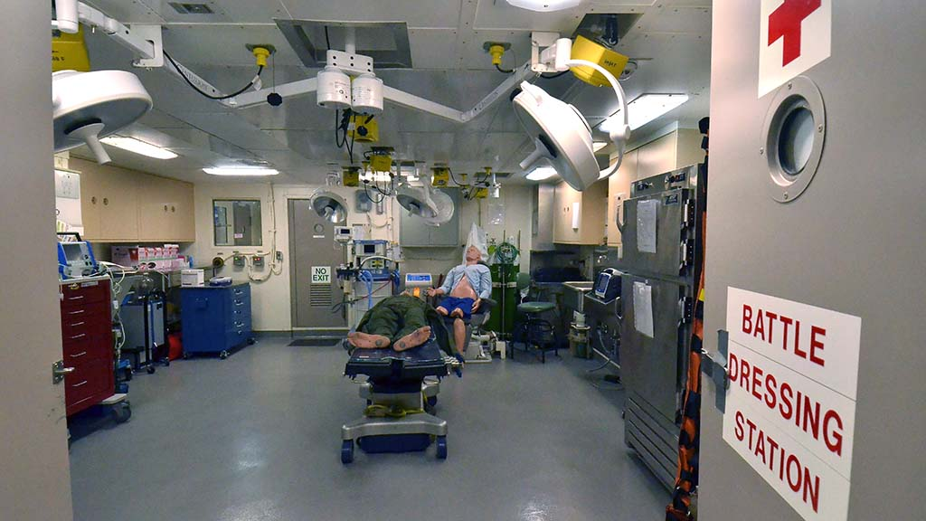 Medical rooms were on display during the ship tour of the USS Anchorage.