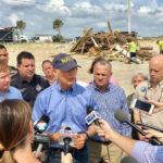 Florida Gov. Rick Scott views hurricane damage