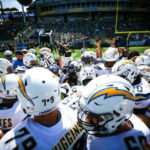 Los Angeles Chargers on the field