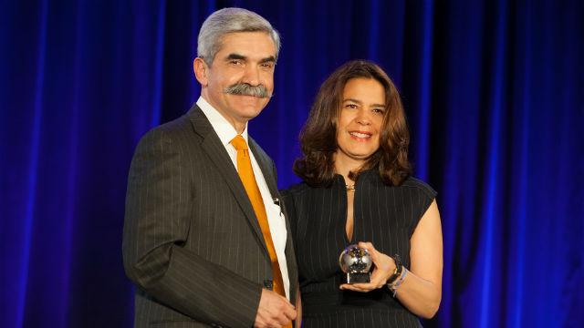 Ambassador Marcela Celorio with Jaime Alonso Gomez