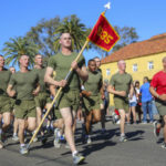 Marines training at Recruit Depot San Diego