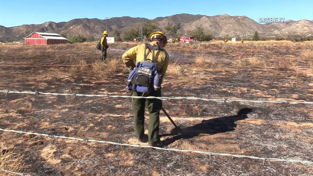 Firefighters mop up after Ranchita Fire