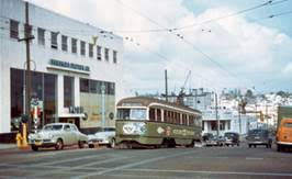 PCC car in San Diego in the late 1940s