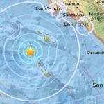Location of earthquake off Santa Catalina Island