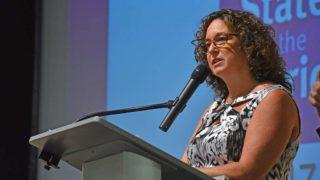SDUSD Superintendent Cindy Marten spoke of the district's progress
