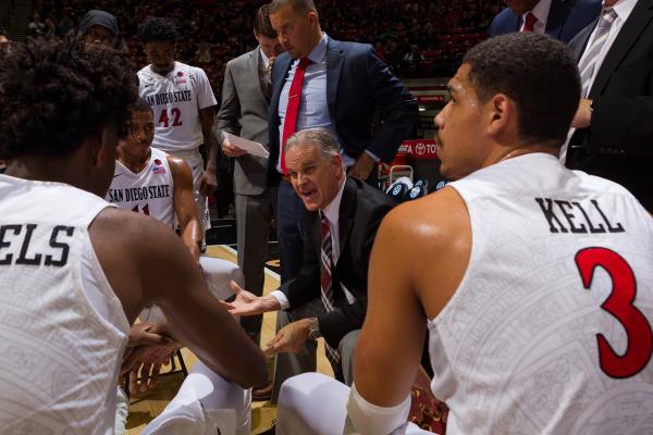 Aztecs basketball coach Brian Dutcher