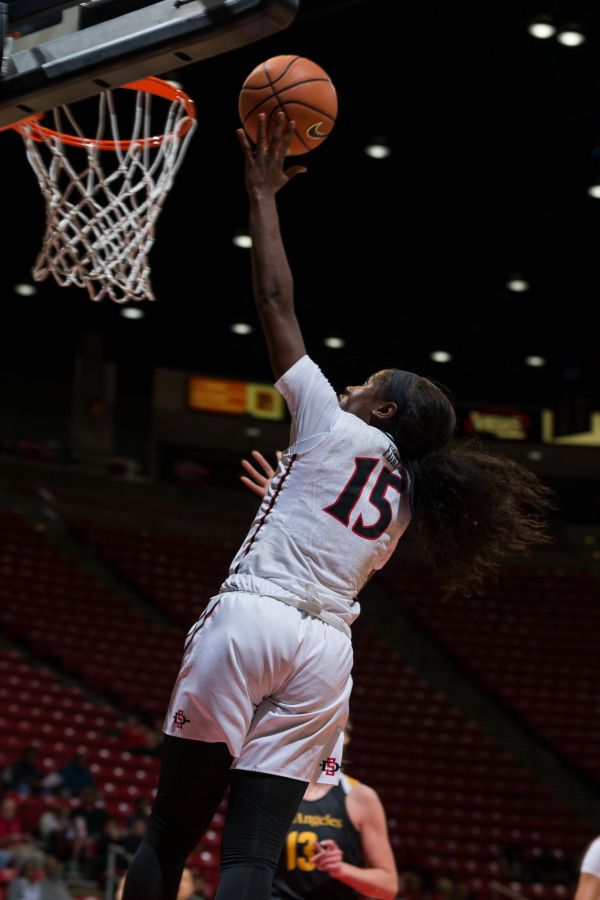 Aztecs women's basketball- McKynzie Fort.