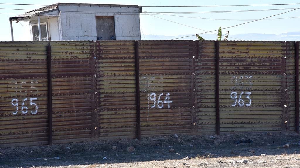 The primary fence, 8 to-10 feet high, runs 46 miles in San Diego sector along the border.