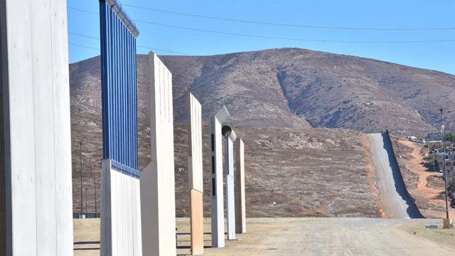 Trump border wall prototypes