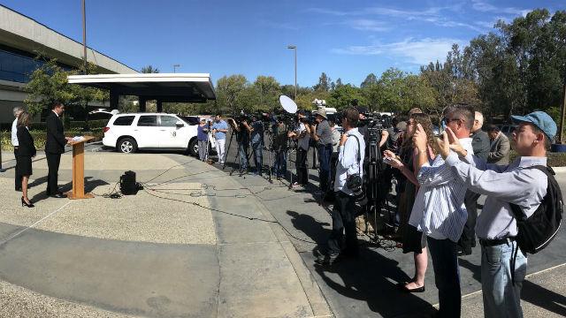 Media at press conference