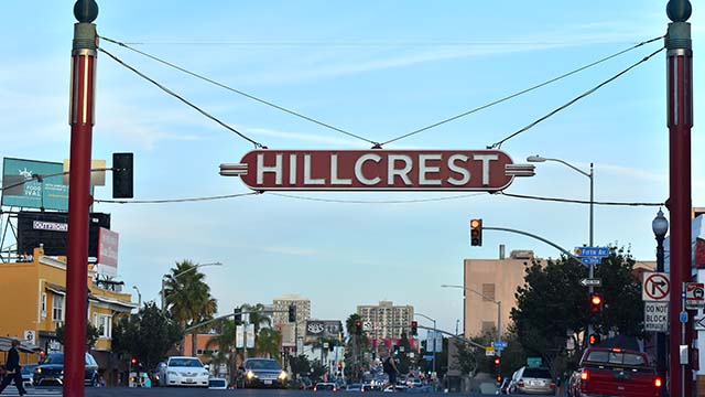 HIllcrest sign.