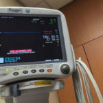 Hospital room patient monitor