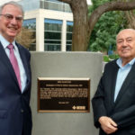 Irwin Jacobs and Andrew Viterbi with IEEE plaque