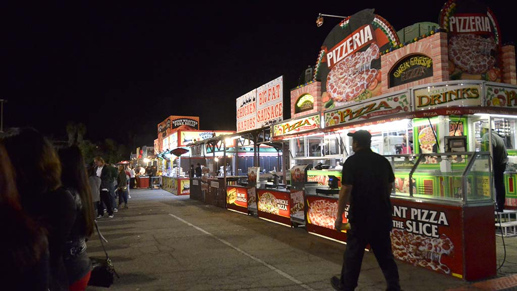 Food booths reminiscent of a county fair will take care of visitor's appetite.