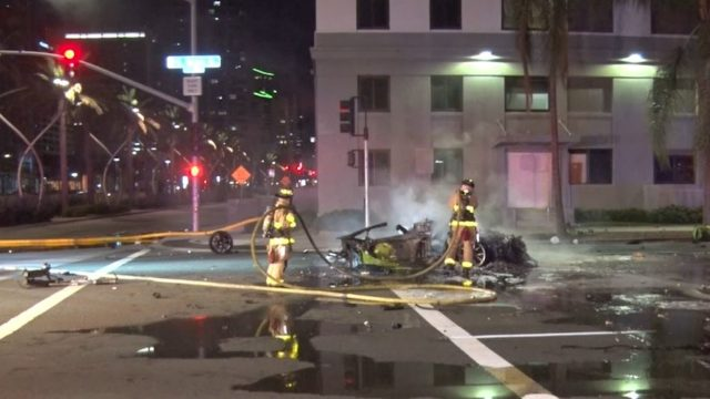 Driver Of Speeding Lamborghini Killed In Fiery Crash On